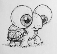 Big eyed turtle I placed in my school art show drawing this
