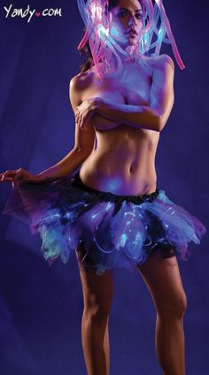 Blue and Purple Light Up Petticoat