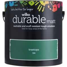 Shop for Wilko Durable Matt Emulsion Paint Treetops at wilko - where we offer a range of home and leisure goods at great prices. Wilko Paint, Sugar Soap, Stationery Craft, Cleaning Walls, Living Room Green, H & M Home, Kitchen Paint, Business For Kids, Wood And Metal