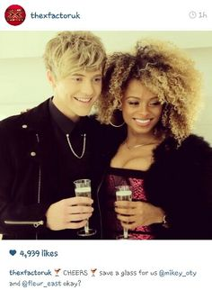 Fleur East and Mikey of Only the Young