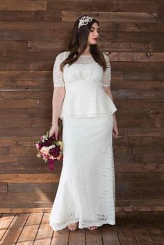 Say yes to forever in a plus size wedding dress that gives you confidence. Browse our plus size wedding dresses and bridal gowns and find the perfect match at Kiyonna Clothing. Peplum Wedding Gowns, How To Dress For A Wedding, Plus Size Wedding Gowns, Western Wedding Dresses, Modest Wedding Dresses, Perfect Wedding Dress, Wedding Dress Styles, Plus Size Dresses, Plus Size Outfits