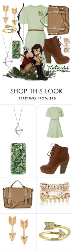 """""""Katniss Everdeen"""" by fandom-outfitssx ❤ liked on Polyvore featuring BERRICLE, Valentino, Casetify, Topshop, River Island, Journee Collection, Miadora, women's clothing, women's fashion and women"""