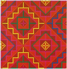 A collection of old Israeli needlework patterns. Tapestry Crochet Patterns, Loom Patterns, Beading Patterns, Embroidery Patterns, Cross Stitch Patterns, Embroidery Stitches, Russian Embroidery, Mochila Crochet, Palestinian Embroidery