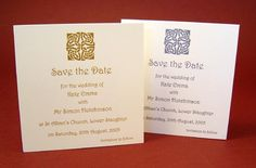scottish save the date cards | Save the Date Cards with envelopes
