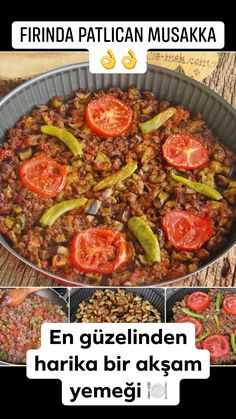 Baked Eggplant Moussaka Recipe, How To? (A delicious dinner) - An eggplant dish with more flavor than the most beautiful … moussaka recipe … baked eggplant mou - Spinach Recipes, Salmon Recipes, Lunch Recipes, Gourmet Recipes, Healthy Recipes, Gourmet Appetizers, Chicken Appetizers, Eggplant Dishes, Baked Eggplant
