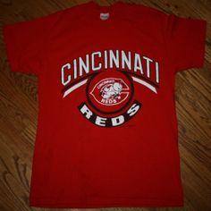 Vintage 1988 Cincinnati Reds Baseball 80's T-SHIRT Men's Large Logo 7 #Stedman #CincinnatiReds