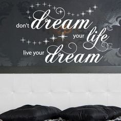 """Style and Apply Live Your Dream Quote Phrases Wall Decal Size: 37"""" H x 59"""" W, Color: Brown"""