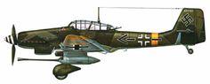 Ju-87 G-2, del Teniente Coronel Hans Ulrich Rudel, Schlachgeschwader 2, Frente del Este, 1944-1945. Pin by Paolo Marzioli