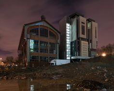 La nouvelle École d'Architecture Paris Val de Seine, construite dans l'ancienne usine de la Société Urbaine d'Air Comprimé (SUDAC), ZAC Paris Rive Gauche -