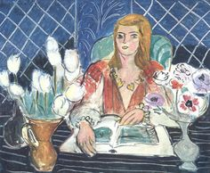 Nonchalant — Annelies, White Tulips and Anemones, Henri Matisse
