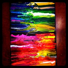 Our crayon melting experiment!  6 year olds.