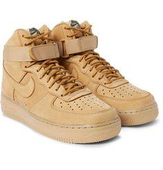 Nike - Air Force 1 07 LV8 Nubuck High-Top Sneakers