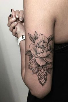 Black Rose Arm Tattoo