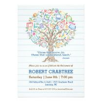 Colorful Tree of Knowledge Teacher Retirement Card