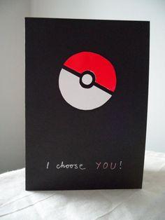 Valentine Gamer Greetings card  Pokemon by VespersCraft on Etsy