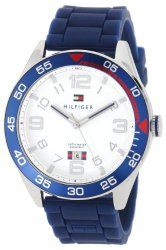 Tommy Hilfiger Men's 1790977 Stainless Steel Watch With Blue Silicone Band