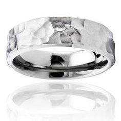 @Overstock - Hammered men's ringTitanium jewelryClick here for ring sizing guidehttp://www.overstock.com/Jewelry-Watches/Mens-Titanium-Hammered-Ring/5603130/product.html?CID=214117 $38.99