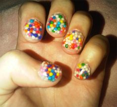 Katy Perry Candy Sprinkle Nail Art
