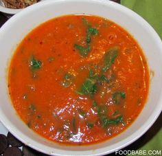 Una picante y deliciosa #receta de Sopa de de Jitomate y Col Rizada