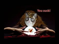 I created this to convey the vision of Grumpy Cat the fortune teller