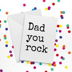 Fathers Day Card  Dad You Rock  Card for Dad