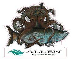 Eric Hornung Artist Series Kraken Decal - Allen Fly Fishing Store
