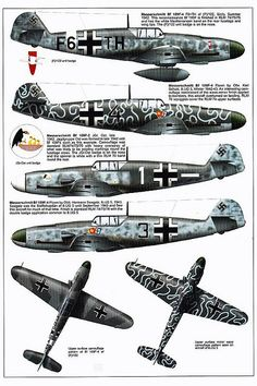 Bf 109 F, and Trop variants Ww2 Aircraft, Fighter Aircraft, Military Aircraft, Fighter Jets, Luftwaffe, Focke Wulf 190, Aircraft Painting, Ww2 Planes, Wwii