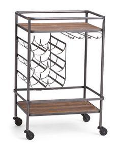 Wine Rack Bar Cart