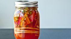 Sriracha Fridge Pickles Recipe | Bon Appetit