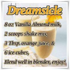 Dreamsicle ViSalus Recipe  http://jessicagustin.myvi.net