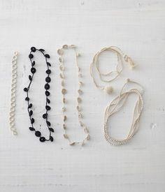 crochet necklaces…