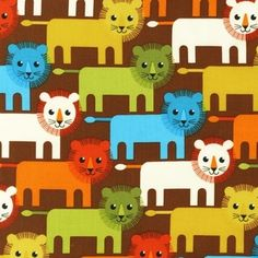 Print and Pattern - Roar! - Lions in Bermuda - Benjamin