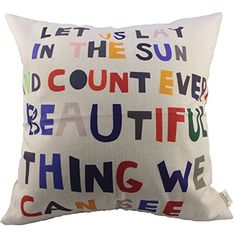 HOSL Meaningful Quotes Colorful Letters Throw Pillow Case... http://www.amazon.com/dp/B00GKBNYHE/ref=cm_sw_r_pi_dp_tlYsxb0EKR78Y