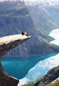 On the Edge, Trolltunga, Norway seen at http://www.placestoseeinyourlifetime.com/trolltunga-the-trolls-tongue-rock-in-hardanger-norway-388
