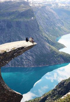 On the Edge, Trolltunga, Norway seen at http://www.placestoseeinyourlifetime.com/trolltunga-the-trolls-tongue-rock-in-hardanger-norway-388
