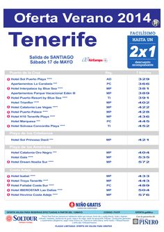 Hoteles en Tenerife - Hasta 2x1 - Niño Gratis - Salida 17 Mayo desde Santiago ultimo minuto - http://zocotours.com/hoteles-en-tenerife-hasta-2x1-nino-gratis-salida-17-mayo-desde-santiago-ultimo-minuto/