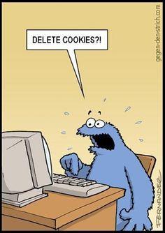 Terrified Cookie Monster