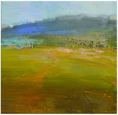 """Windswept  Oil on panel  8""""x10""""   A quick study of a windswept hill. It's done on a masonite panel with a minimum of detail. I emphasized ..."""