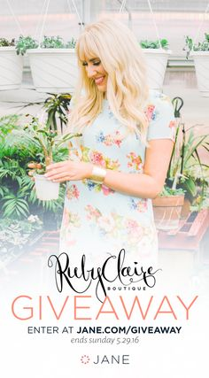 Enter the Jane.com RubyClaire Boutique Giveaway to win RubyClaire Gift Certificates! Ends 5/29. #Sweepstakes