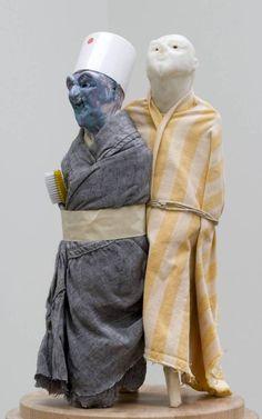 Thomas Schütte '[no title]', 1993 © Thomas Schütte, DACS 2016 Dark Blue Eyes, Thing 1, Flash Art, Yellow Fabric, Modern Artists, Art Object, Famous Artists, Installation Art, Figurative Art