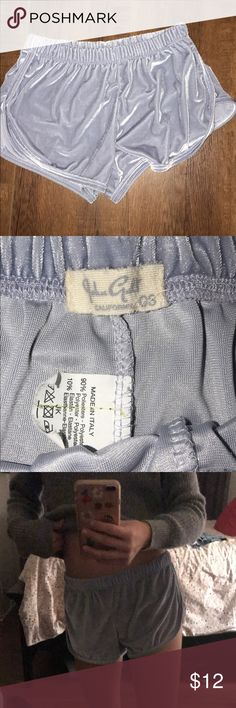 Velvet shorts Baby blue velvet shorts. John galt from brandy Melville Brandy Melville Shorts