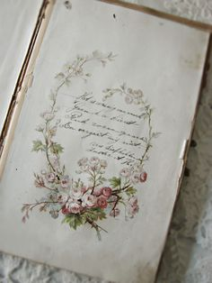 Beautiful vintage book page, gorgeous handwriting
