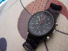Vintage 70s croton pvd triple reg chronograph wristwatch orfina porsch design