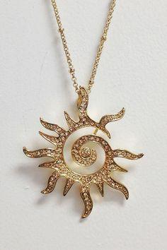 Timeless Black - Canoga Park Sun Necklace, $75.00 (http://www.timelessblack.com/products/canoga-park-sun-necklace.html)