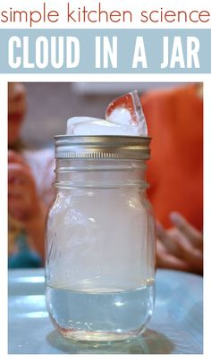 How To Make A Cloud In A Jar - science for kids. This is a fun and really simple science experiment for kids.