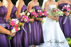 bridesmaids dresses dark purple