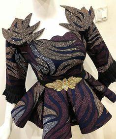 African Ankara Peplum Blouse For Every Woman Latest African Fashion Dresses, African Dresses For Women, African Print Fashion, African Attire, Women's Fashion Dresses, Ankara Fashion, African Men, Africa Fashion, African Prints