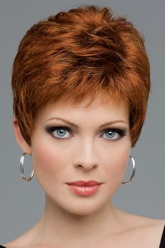 Buy Top Quality Hair Replacement Costume Party Wigs Charm Short Pixie Cut Hairstyle Wigs for Women Heat Resistant Synthetic Natural Auburn Wigs with Bangs at Wish - Shopping Made Fun Short Hair Cuts For Women, Short Hairstyles For Women, Wig Hairstyles, Hairstyles 2016, Black Hairstyles, Hairstyle Ideas, Wig Styles, Curly Hair Styles, Natural Hair Styles