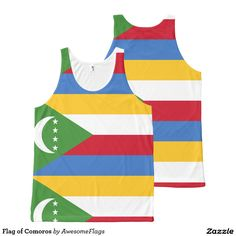 Flag of Comoros All-Over Print Tank Top