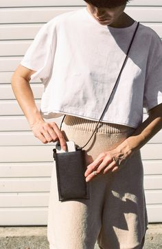 Building Block iPhone Sling - black on Garmentory Iphone Holder, Carry On, Black Leather, Exchange Rate, Clothes For Women, Easy Access, My Style, Shoulder Strap, Iphone 6